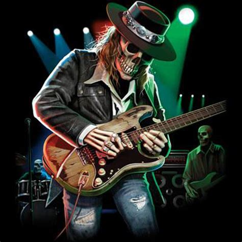 One Ok Rock Skull Tshirt Gildan sleeve t shirt blues skull guitar