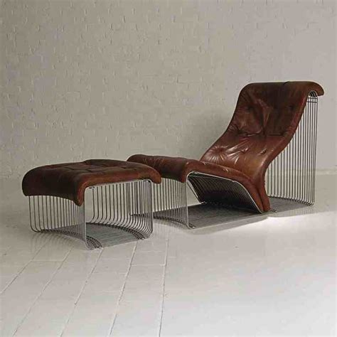 chaises verner panton chaise longue and stool design quot verner panton quot original leather at 1stdibs