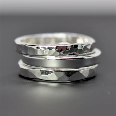 Handmade Silver Ring - stacking silver rings silver eco friendly recycled metal
