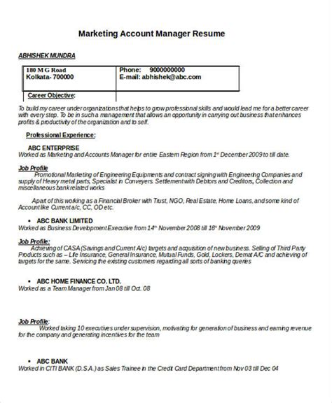 account executive resume exle doc 26 manager resume templates pdf doc free premium templates