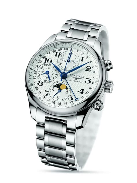 Longines Master Moonphase Chronograph l26734786 the longines master collection 40mm stainless steel chronograph with moon phase