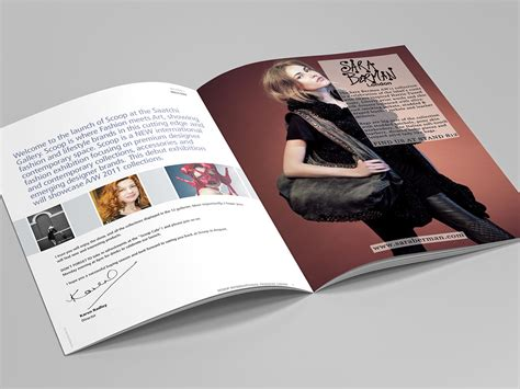 Fashion Tv Scoop by Scoop International Fashion Show Brochure Design Clinton