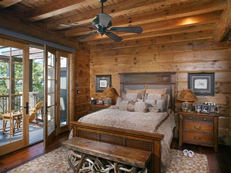 Log Home Bedroom Decorating Ideas Turkey Lodge Bedrooms Rustic Bedroom Atlanta