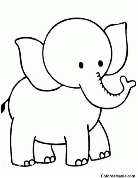 imagenes para colorear elefante colorear elefante de cabeza pequea animales de la sabana