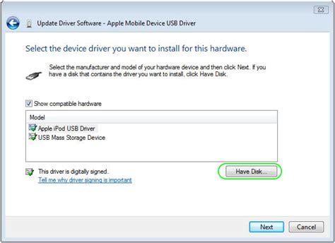 apple mobile device driver apple mobile device usb driver windows 7 code 52