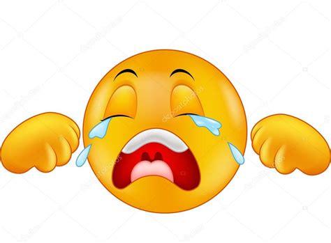 imagenes de emoticones llorando dibujos animados emoticonos de llorar vector de stock