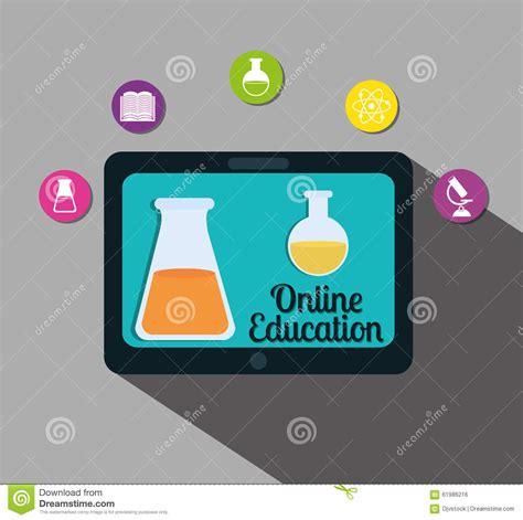 online design qualifications online education design stock vector image 61986216