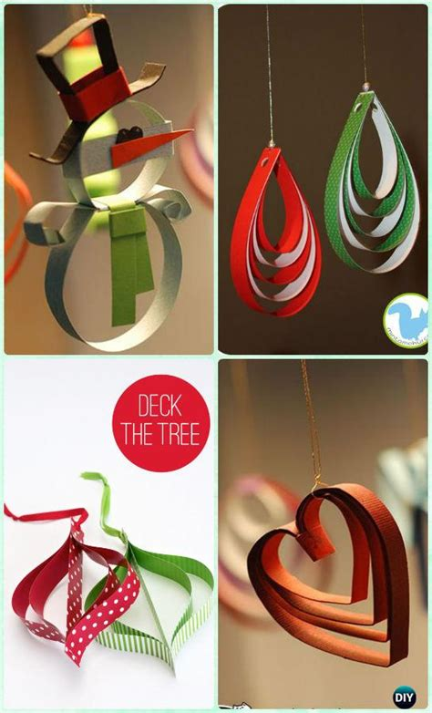 How To Make Paper Ornaments For Tree - diy paper tree ornament craft ideas