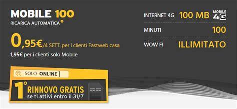 fastweb mobile 500 fastweb mobile 1 176 rinnovo gratis per le nuove attivazioni
