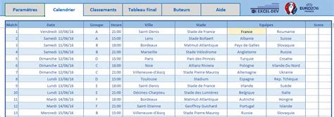Calendrier Ligue 1 2016 Excel Excel Dev Fichier 2016 Le Excel Dev