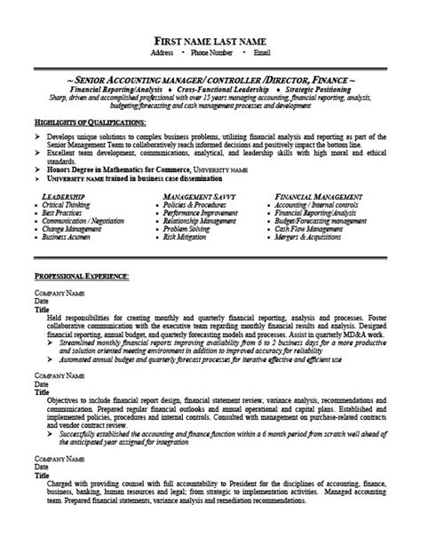 senior it manager sle resume 28 images project