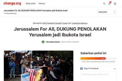 donald trump dukung israel md hubbul wathon galang petisi untuk donald trump palapa