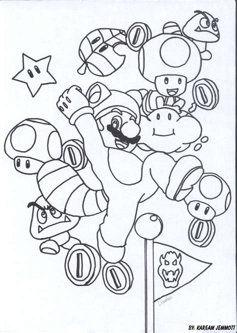 Super Mario 3d Land By Kstarboy On Deviantart Mario 3d World Coloring Pages