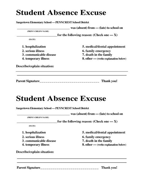 dentist note for school template best photos of excuses for missing school school excuse doctors note template school absence