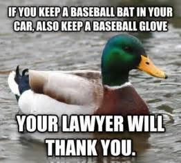 Baseball Bat Meme - baseball bat actual advice mallard know your meme