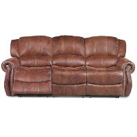 leather 88 power reclining sofa 88 quot brown upholstered power reclining sofa rc willey
