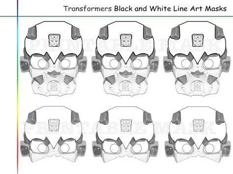 printable bumble bee mask template coloring pages transformers party holidaypartystar