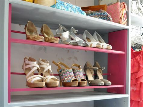 diy shoe rack for closet how to build a shoe rack for your closet hgtv
