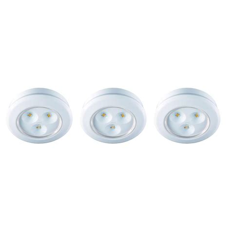 battery operated picture lights home depot commercial electric 2 99 in led white battery operated