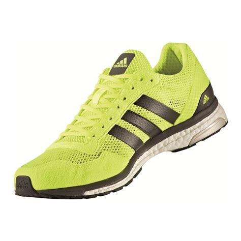 adidas adizero adios mens green sneakers running road sports shoes trainers ebay