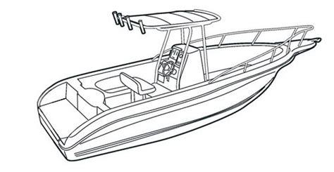 how to draw a kayak boat center console fishing boat drawing