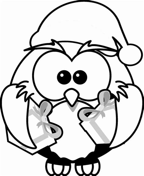 holiday owl coloring page 61 best images about owl coloring pages on pinterest