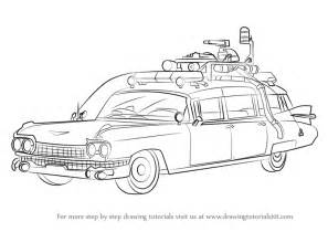 learn draw ghostbusters car ghostbusters step step drawing tutorials