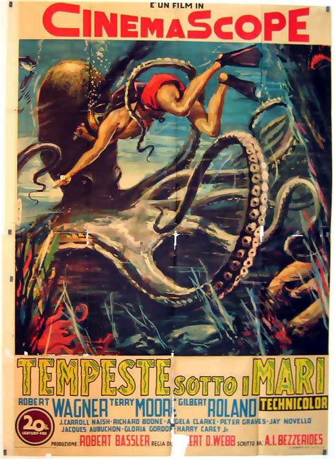 beneath the 12 mile reef 1953 robert wagner quot tempeste sotto i mari quot poster quot beneath the 12
