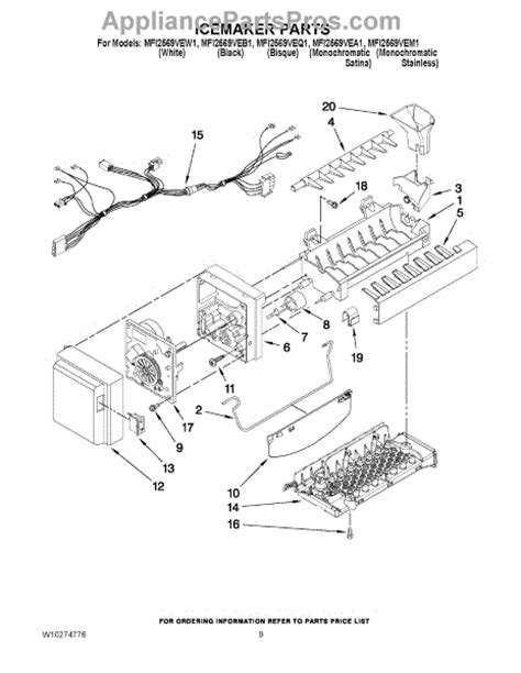 whirlpool maker parts diagram whirlpool wpw10190981 icemaker assembly