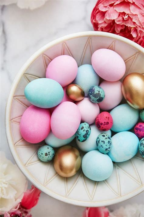 picture of bold pink and blue easter eggs and small