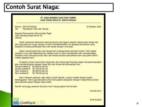 Surat Niaga Surat Penawaran by Contoh Surat Niaga Simple