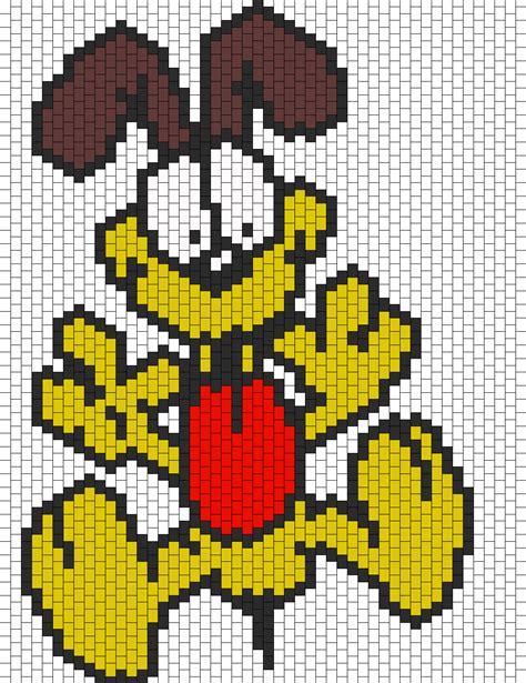 bead characters odie bead pattern peyote bead patterns characters bead