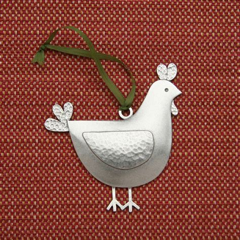 chicken ornament by beehivehandmadellc on etsy
