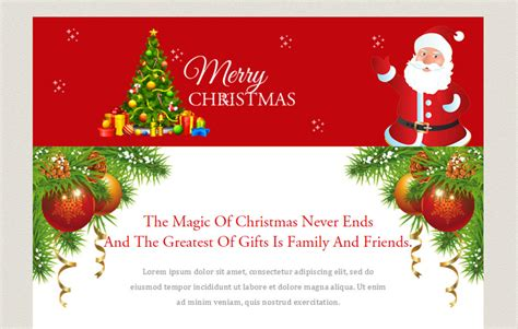 Merry Christmas A Newsletter Responsive Web Template W3layouts Com Merry Business Letter Template
