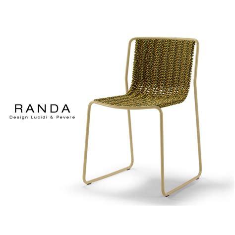 chaise d ext 233 rieur randa structure acier peint assise