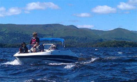 speed boat loch lomond luss speed boat trip with family picture of loch lomond