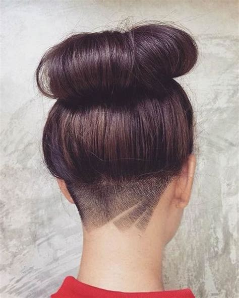 how to cut the back of a females neck amazing shaved nape designs inside best 25 female undercut