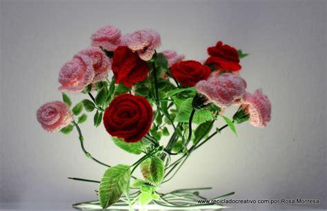 material reciclado facilisimocom rosas de pitimin 237 de ganchillo flores de crochet i