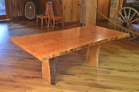 live edge cherry dining table handmade cherry dining table with live edge by corey