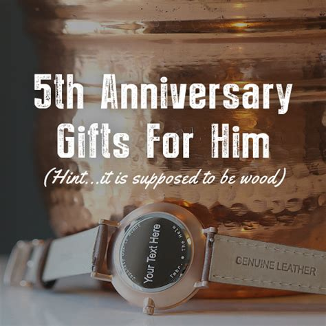 5 year wedding gift for him fifth wedding anniversary gifts for him gift ftempo
