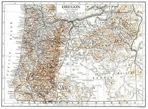 oregon large map large detailed relief map of oregon state 1911