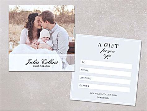 shoot card template the advantages of offering photography gift certificate