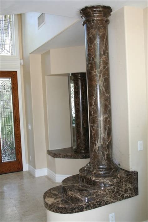 faux painted columns faux marble foreplace and columns traditional entry