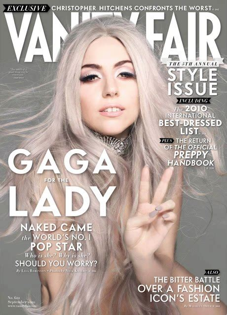 Vanity Gaga by Gaga In Vanity Fair S September 2010 Cover Mind