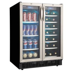 danby silhouette 27 bottle built in wine cooler and 60 can