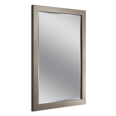 deco mirror 40 in x 28 in modern wall mirror in brushed