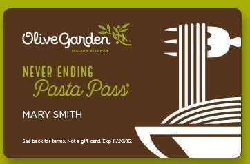 olive garden year pass olive garden s never ending pasta bowl pass goes on sale sept 15 al