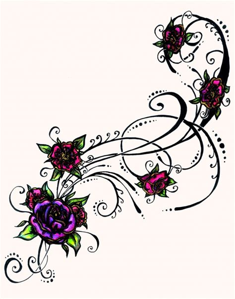 color tattoo design flower designs for tattoos in color