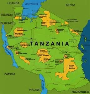 Tanzania Africa Map by Tanzania Africa Map