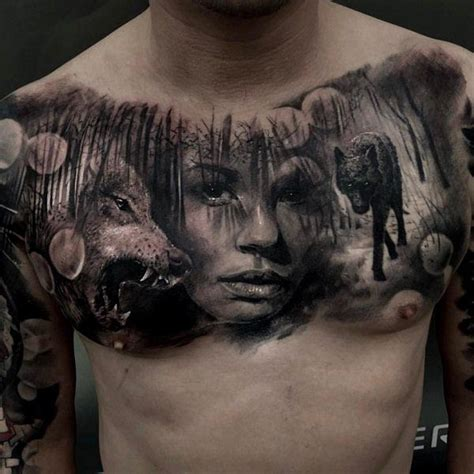 nice chest tattoos for men 75 chest ideas tattoos for